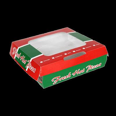 Custom F-flute Pizza Window Boxes 1