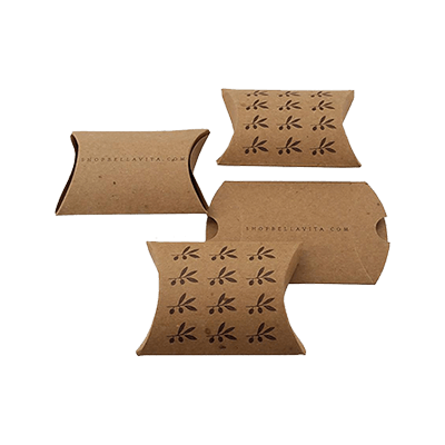 Custom Kraft Paper Pillow Boxes 1