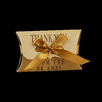 Custom Kraft Paper Gift Pillow Boxes 1