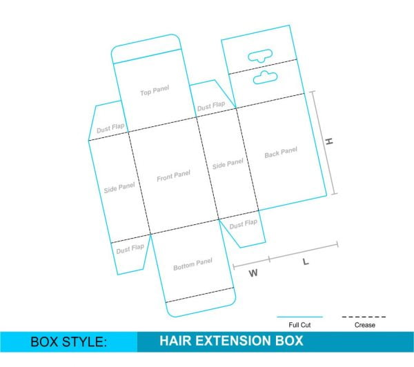 Custom Reverse Tuck Hanging Tab Box 1